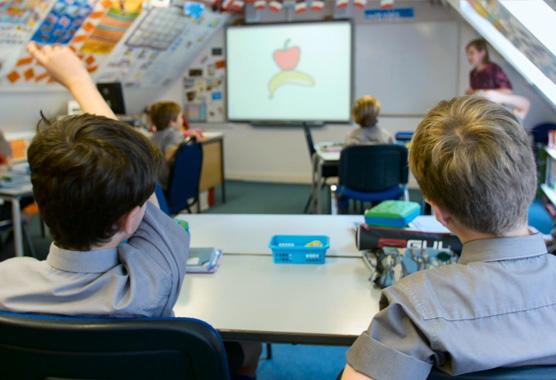 boys in school class